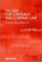 English for Contract and Company Law, 3rd Edition